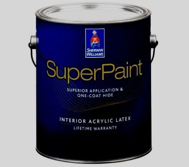 Краска Sherwin-Williams SuperPaint Interior Latex Flat 3.8L