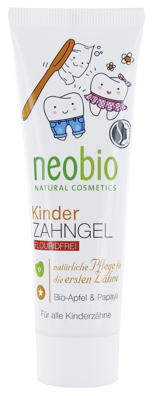 Neobio детская без фтора с био-яблоком и папайей