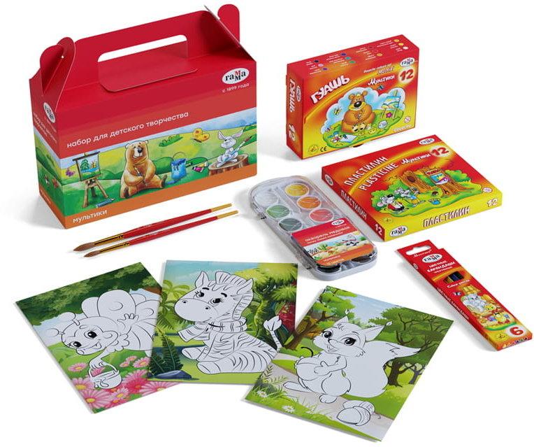 «Гамма» «Мультики», состоит из 6 предметов, в подарочной коробке (Россия)