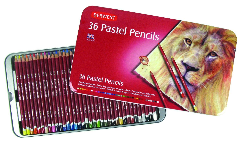 Pastel Pencils 36 шт в металлической упаковке