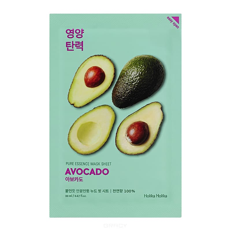 Holika Holika смягчающая тканевая маска «Pure Essence Авокадо»