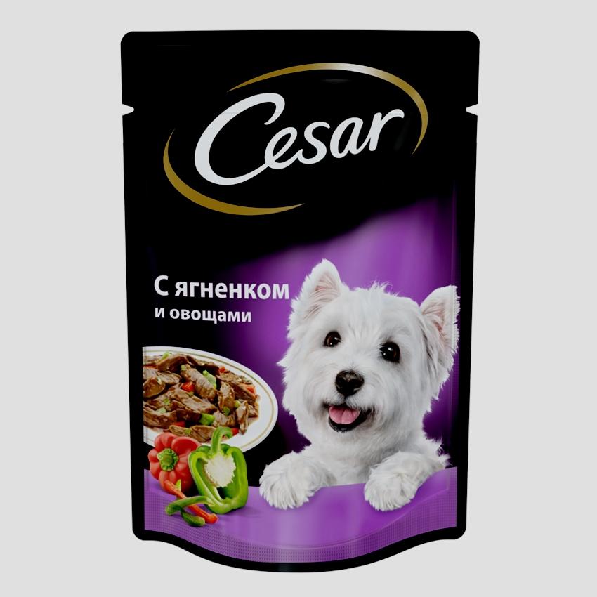Cesar ягненок с овощами 100г (для мелких пород)