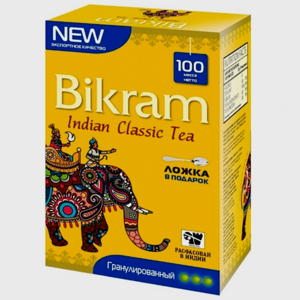 Чай черный Bikram гранулированный СТС