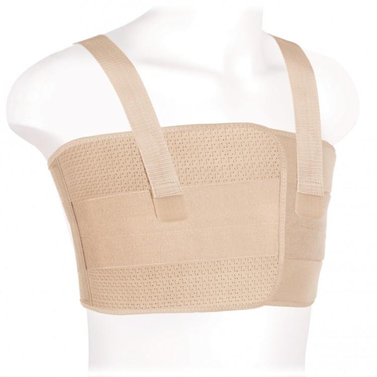 Бандаж послеоперационный для грудной клетки мужской с антискручивающимися вставками фирмы Экотен