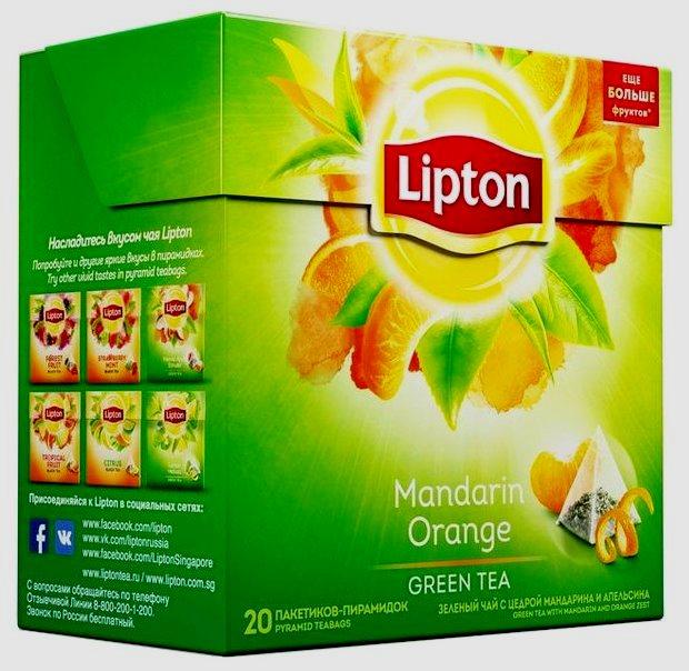 Lipton Mandarin Orange (пирамидки)