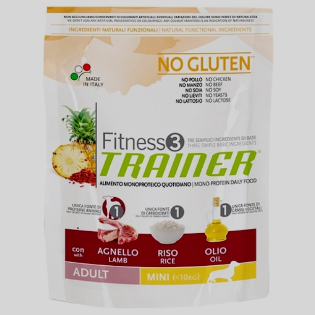 TRAINER Fitness3 No Gluten Adult Mini Lamb and Rice dry