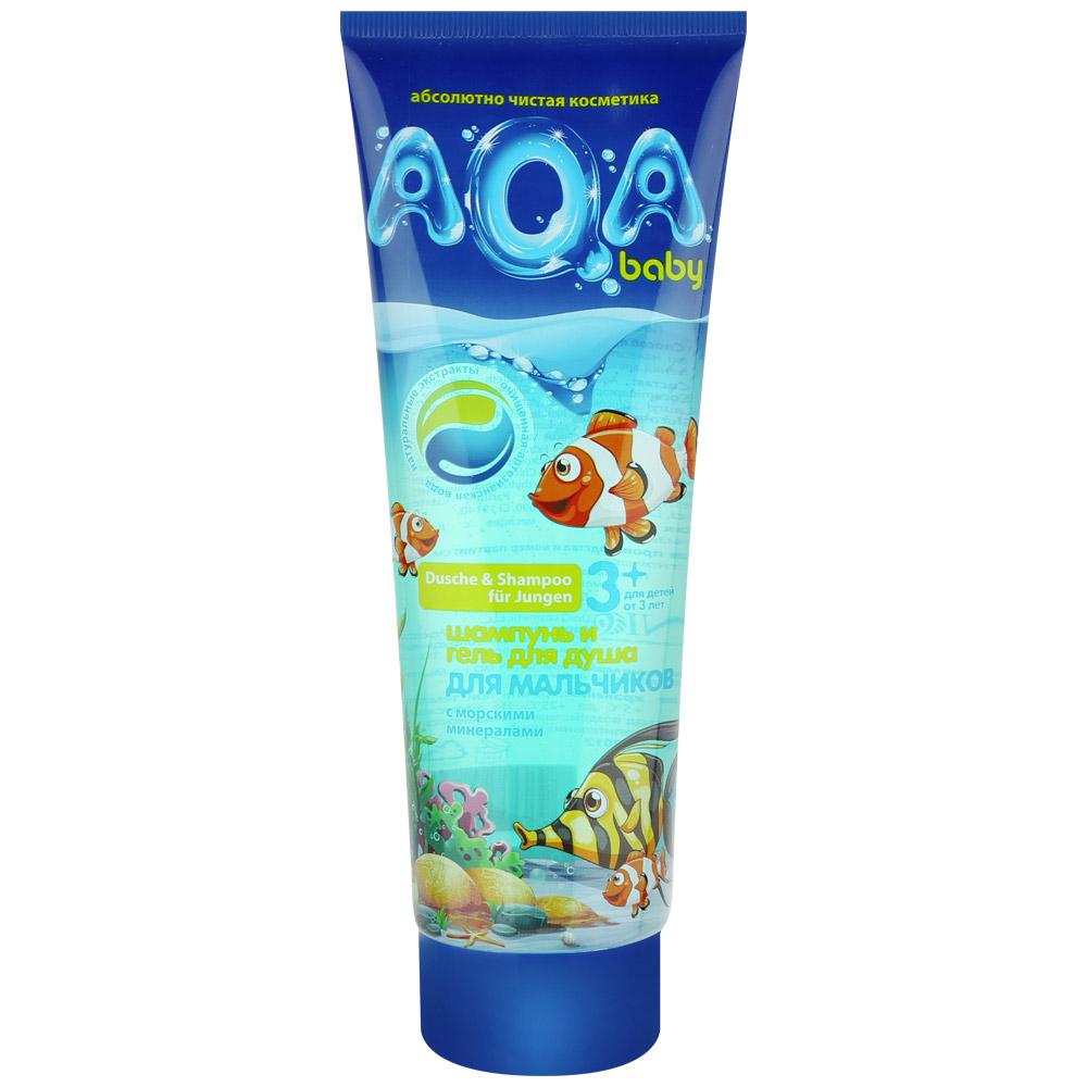 Шампунь-гель детский AQA Baby Kids с морскими минералами от 3 лет