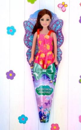 Кукла в конусе «Милой девочке», МИКС