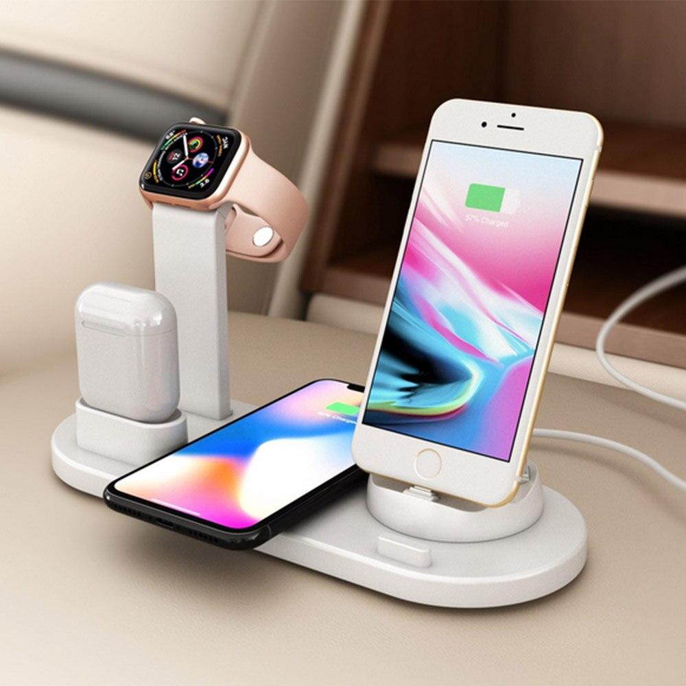 Док-станция «3 в 1» с питанием от Logitech – беспроводное зарядное устройство для iPhone, AirPods и Apple Watch