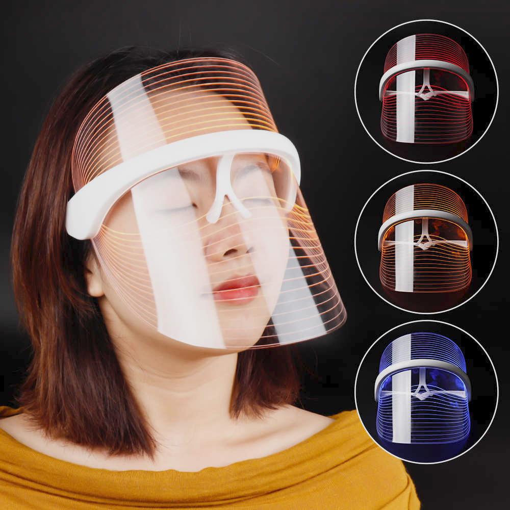 Фотомаска для лица со светодиодной подсветкой против морщин