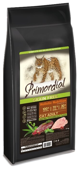 Primordial Grain Free Cat Adult Duck Turkey