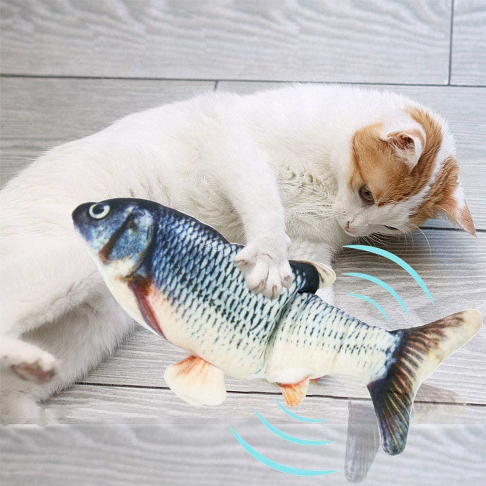 Cat Toys Interactive Simulation Fish Playing