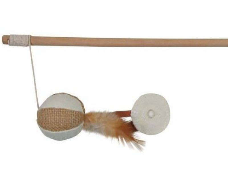 TRIXIE удочка с мячом и перьями