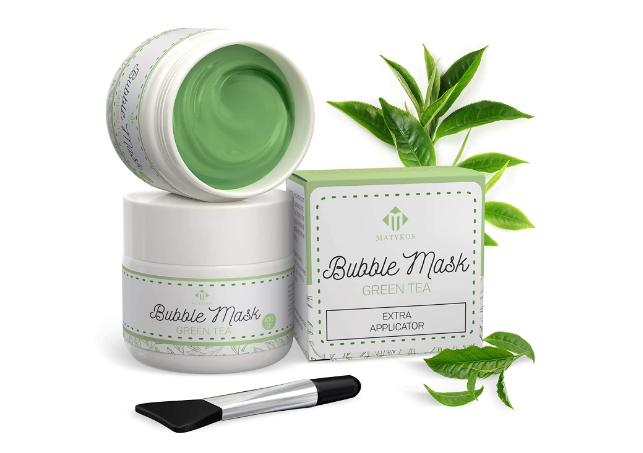 Газированная пузырьковая маска с зеленым чаем Matykos