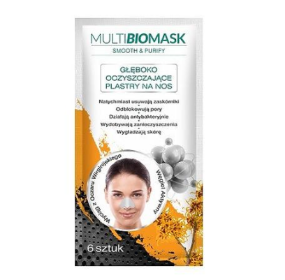 Multi BioMask, Smooth & Purify глубоко очищающие полоски для носа