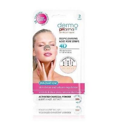 Дермофарм очищающие полоски для носа 4D