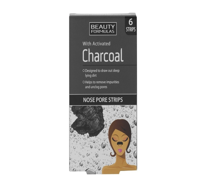 Beauty Formulas очищающие полоски для носа с углем
