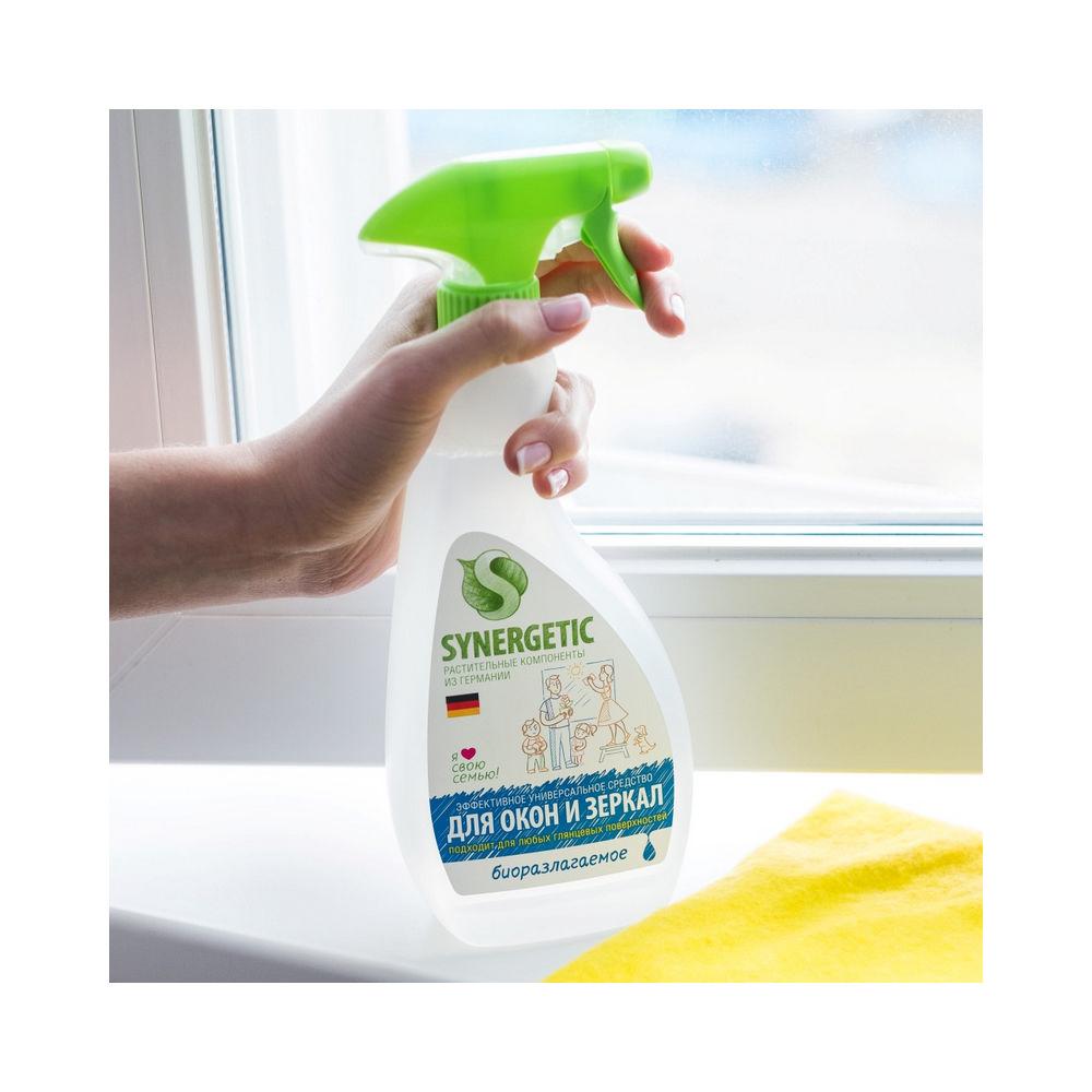 Спрей Synergetic для мытья стёкол