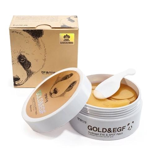 Патчи для области вокруг глаз с частицами золота Branig gold & EGF Hydrogel Eye & Spot Patch