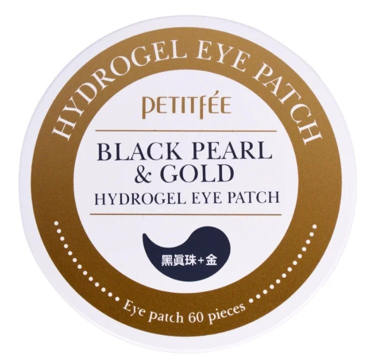 Патчи с содержанием золота и экстракта жемчуга Petitfee black pearl & Gold Hydrogel Eye Patch