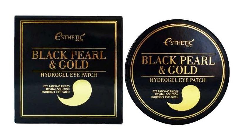 Гидрогелевые патчи с содержанием золота Esthetic black pearl & Gold Hydrogel eye Patch