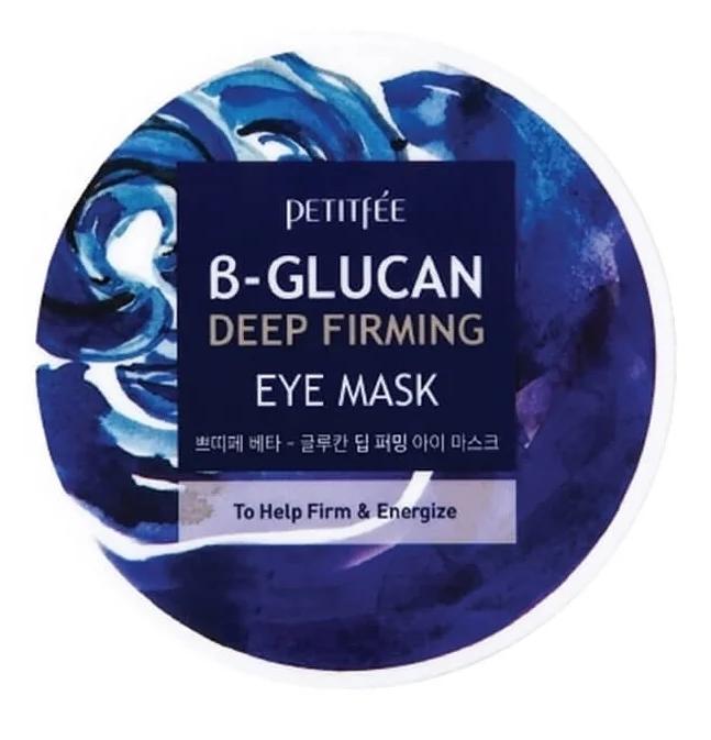 Укрепляющие патчи с бета-глюканом Petitfee b-glucan deep firming eye Mask