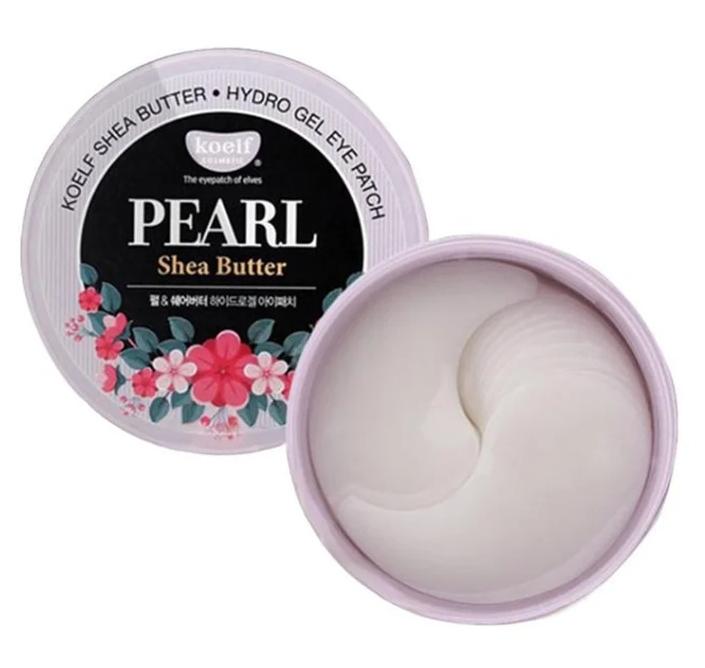 Маски для глаз с содержанием жемчуга и маслом ши Koelf pearl & shea butter hydrogel eye patch
