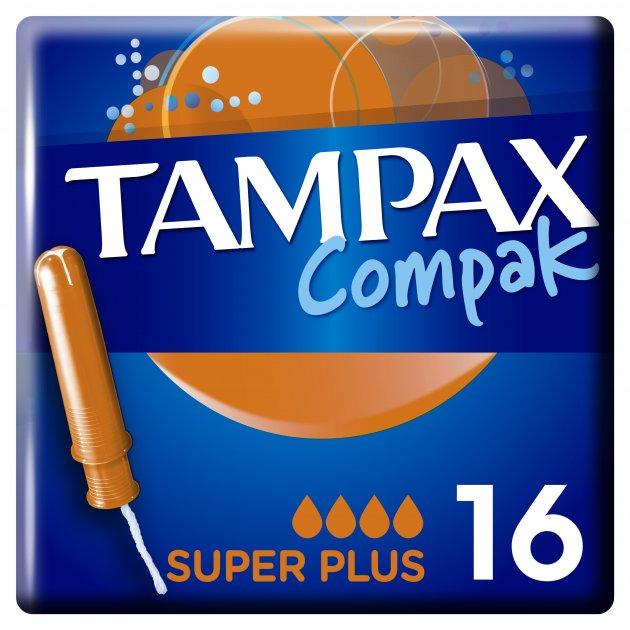 Tampax Super Plus с аппликатором, 16 шт.