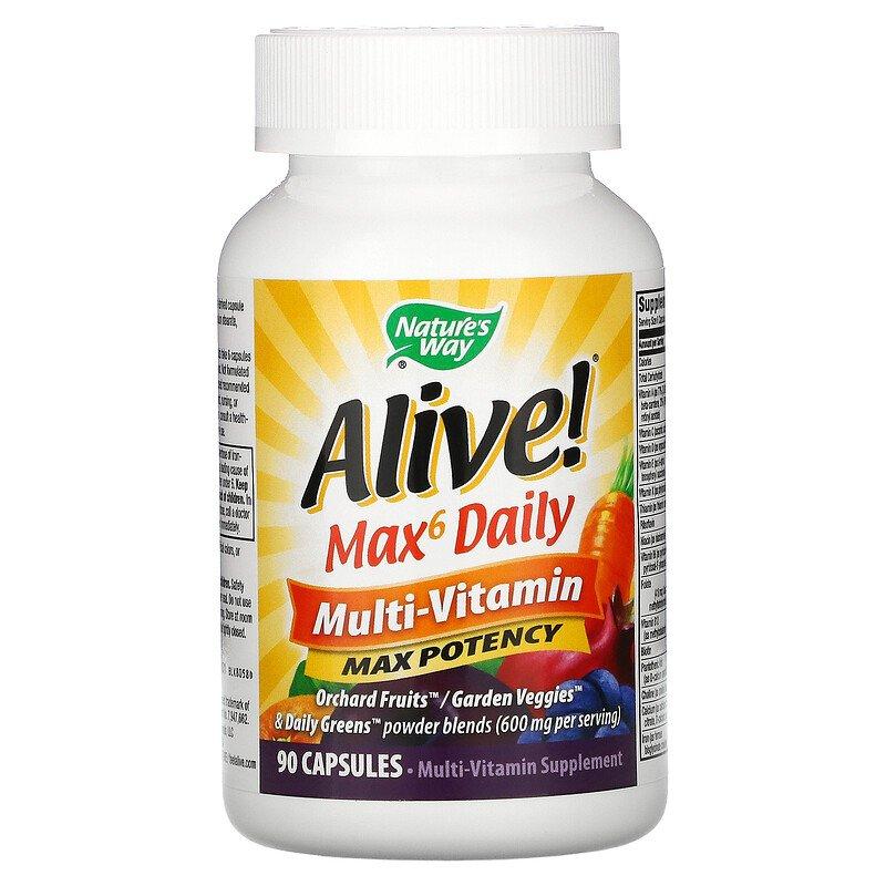 Мультивитамины Nature's Way (Alive Max6 Daily Multi-Vitamin), 90 капсул