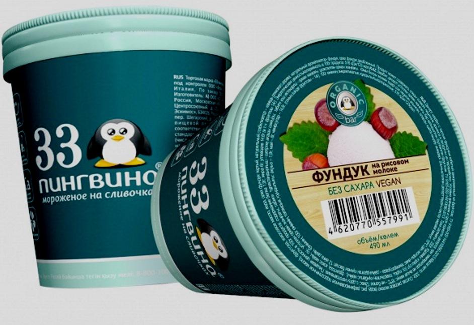 33 пингвина Фундук на рисовом молоке
