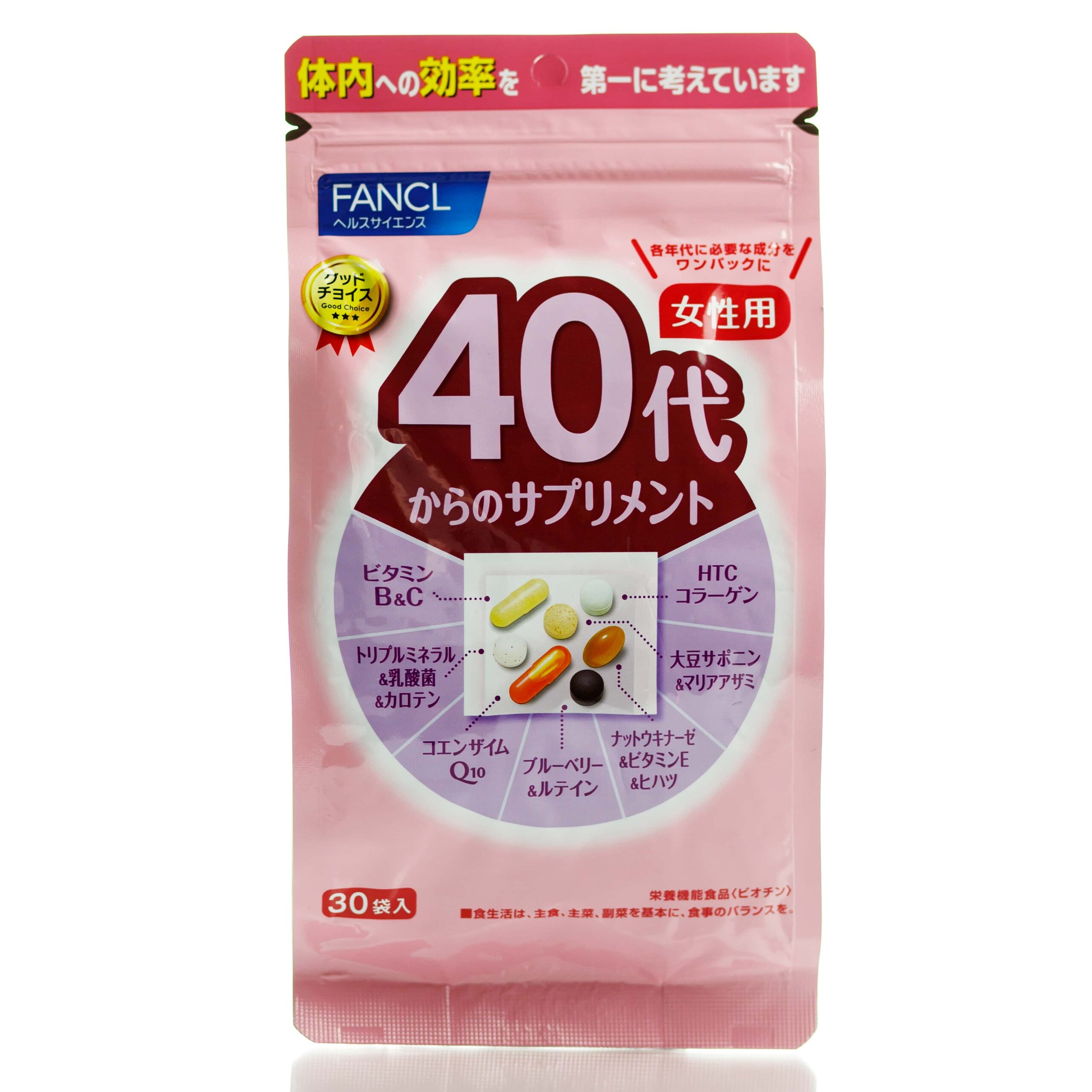 FANCL Комплекс витаминов для женщин после 40, 30 шт.