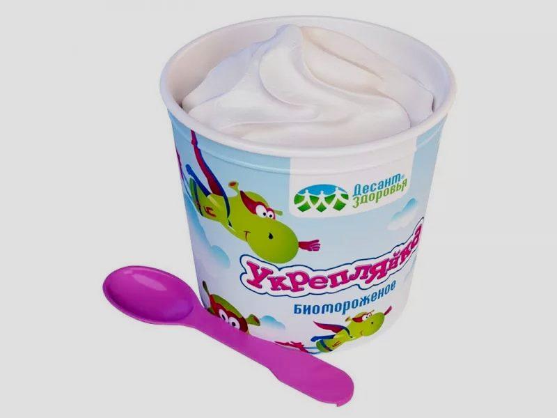 Био мороженое укрепляйка кисломолочное ванильное бум.стаканчик 45 гр. Десант здоровья