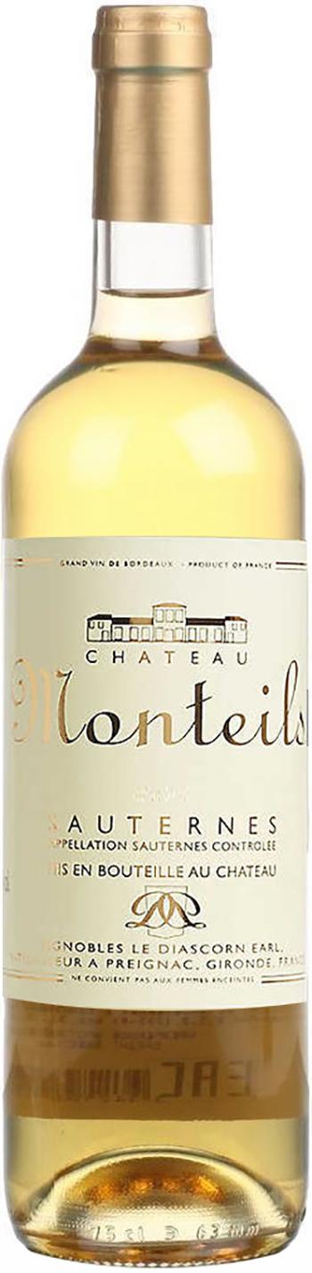 Chateau Monteils, Sauternes AOC, 2010, белое