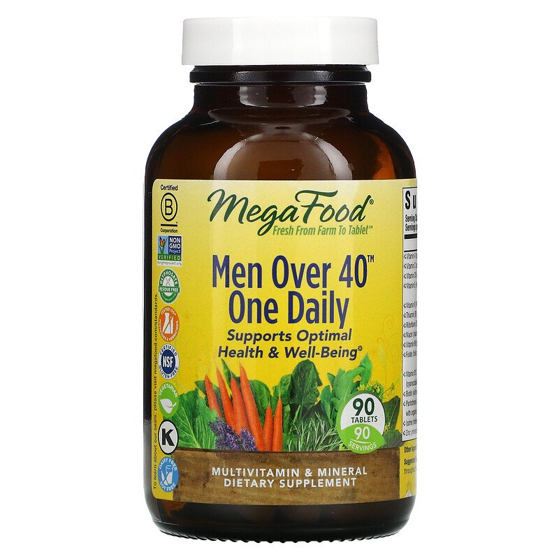 MegaFood, Men Over 40 One Daily, 60 табл.