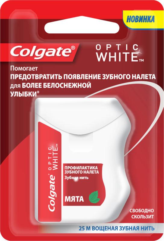 Зубная нить Colgate «Optic White»