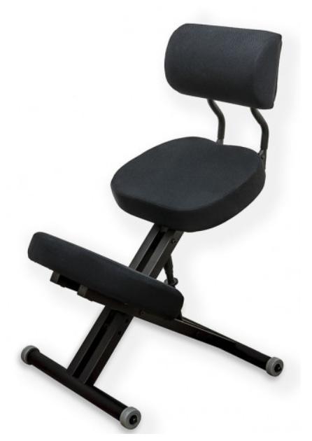 Smartstool KM01BМ Black Металлический коленный стул (со спинкой) чёрный