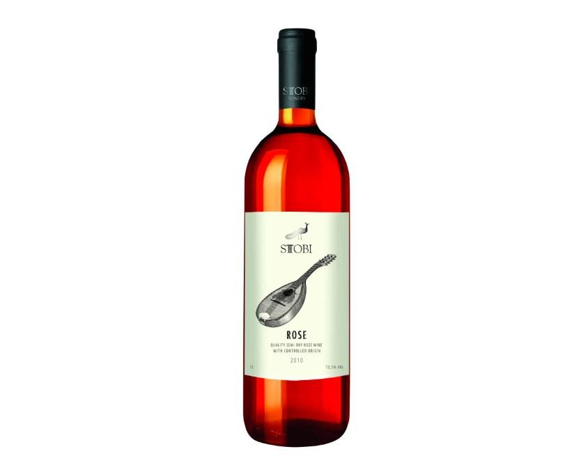 Вино STOBI Rose розовое полусухое, 1 л