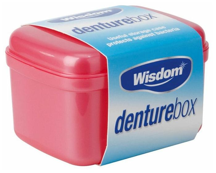 Wisdom контейнер для зубных протезов Denture box