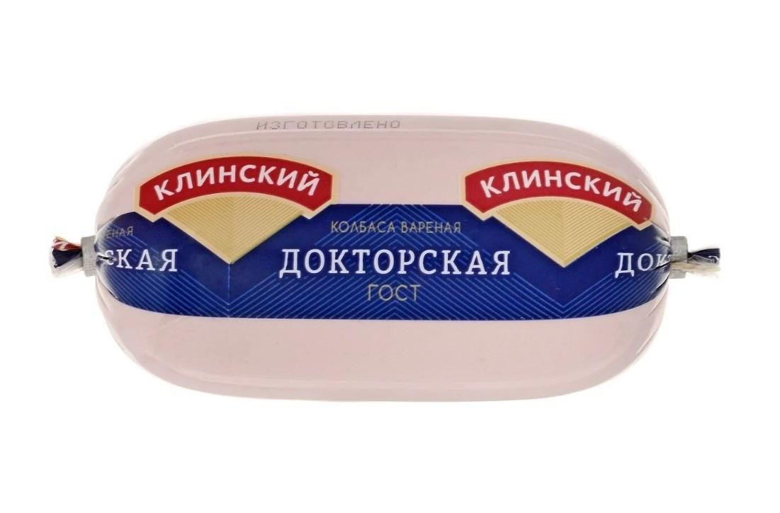 Клинский Мясокомбинат Колбаса Докторская вареная 500 г