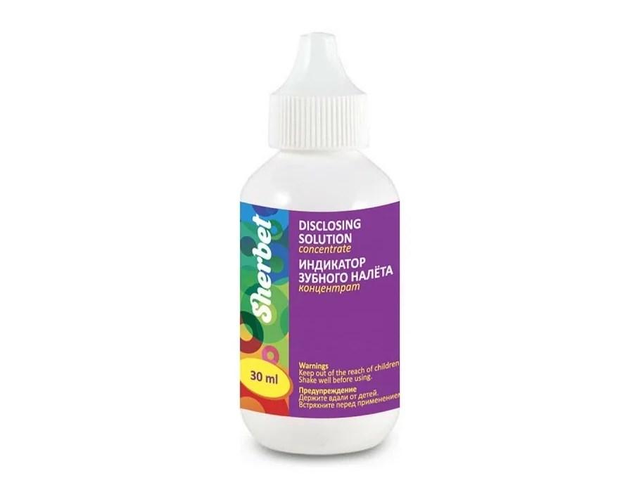 Sherbet жидкость для индикации зубного налёта Disclosing solution concentrate, 30 мл