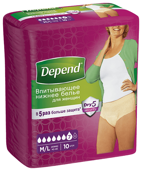Depend for women, 10 шт.