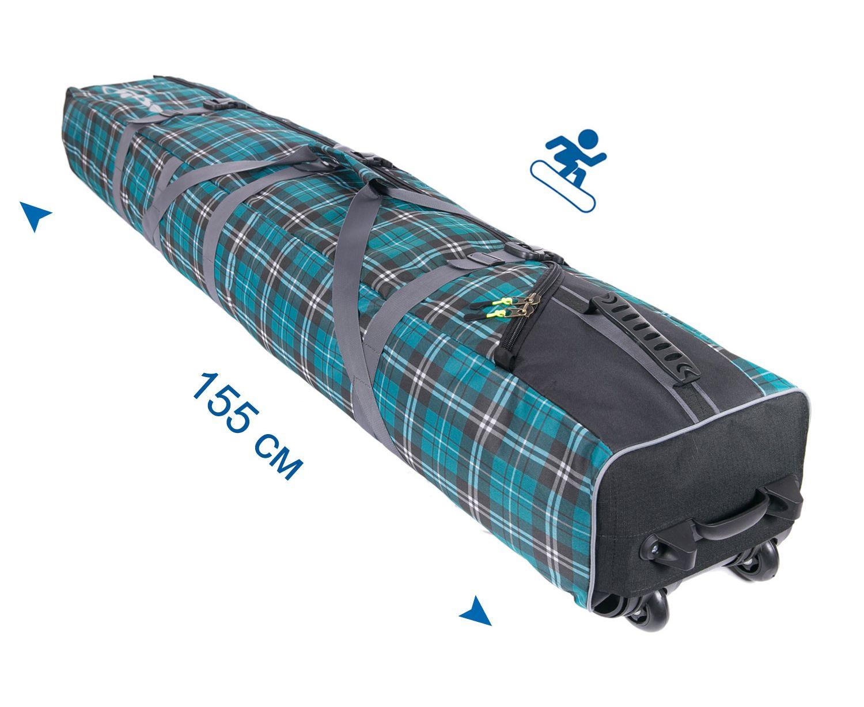 Чехол на колёсах для сноубордов и горных лыж Course 155 см зеленый ФРОСТ