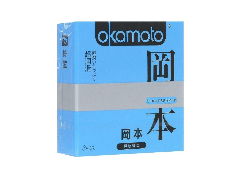 Презервативы Okamoto Skinless Skin Super Lubricated, 3 шт.