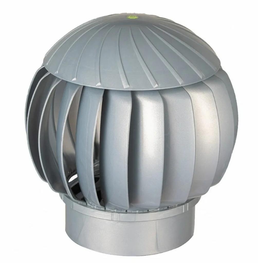 Турбодефлектор, турбина ротационная вентиляционная, D160, серебристый, пластик Нанотурбодефлектор